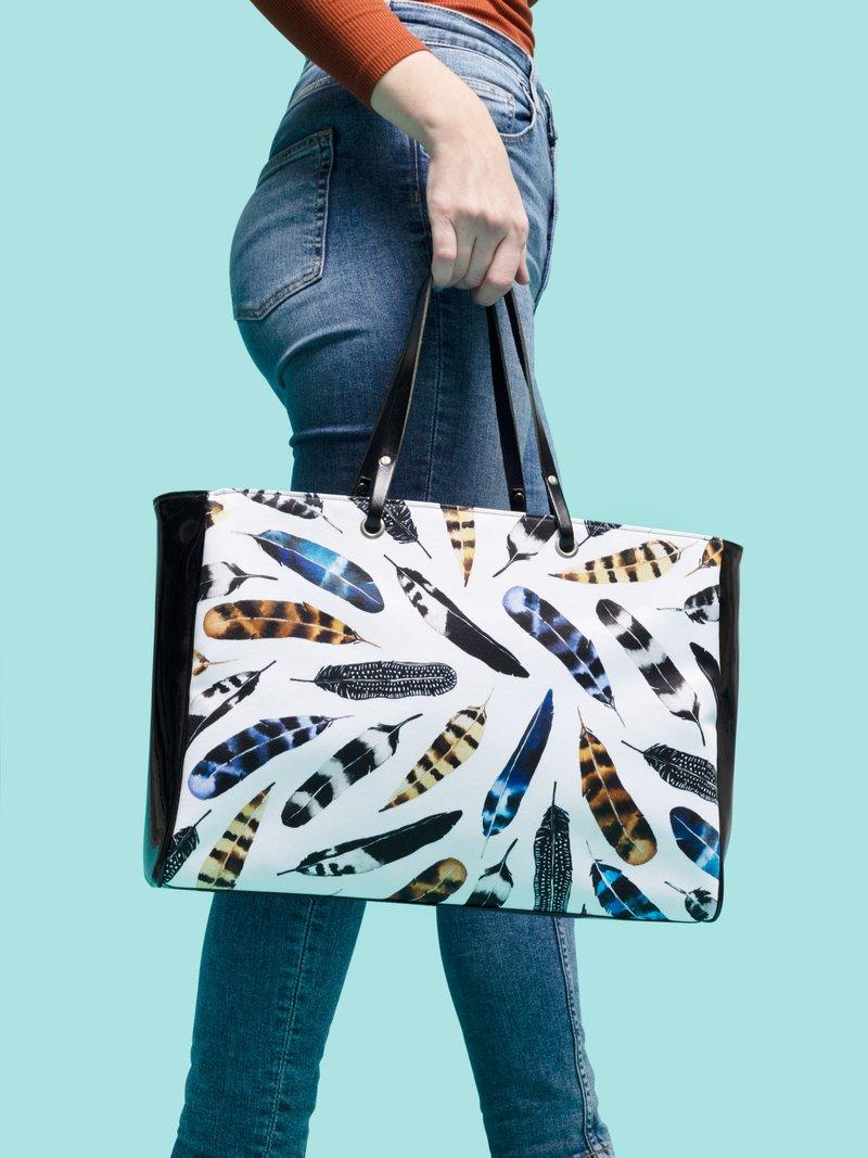 handtasche bedruckt mit grafik hahn