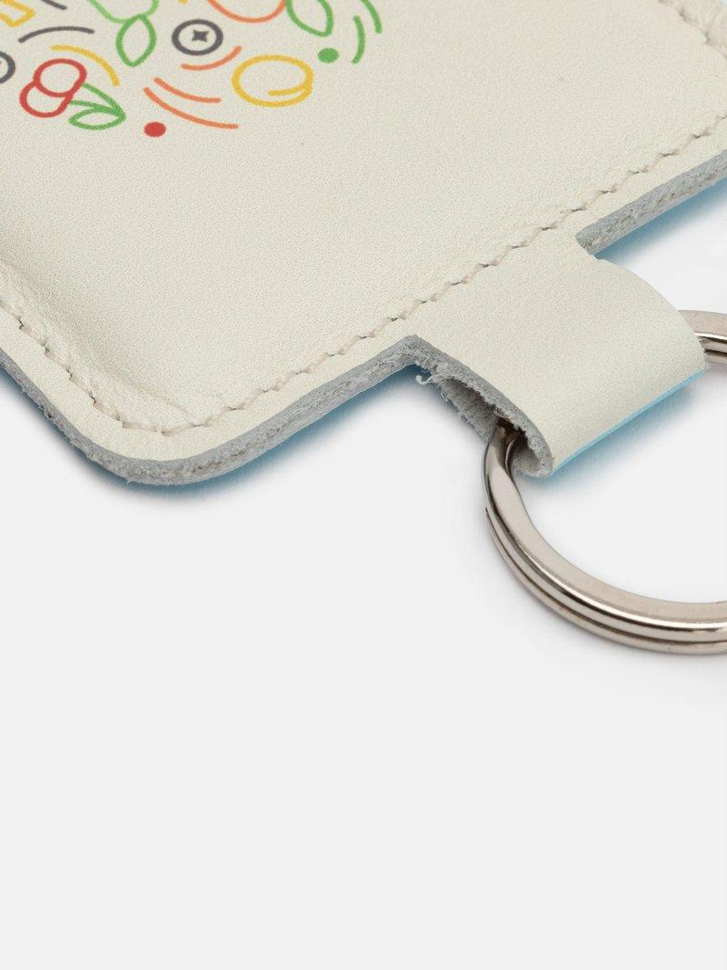Leder Schlüsselanhänger mit Logo
