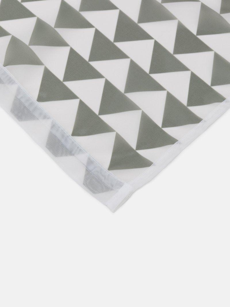 voilage design semi-transparent