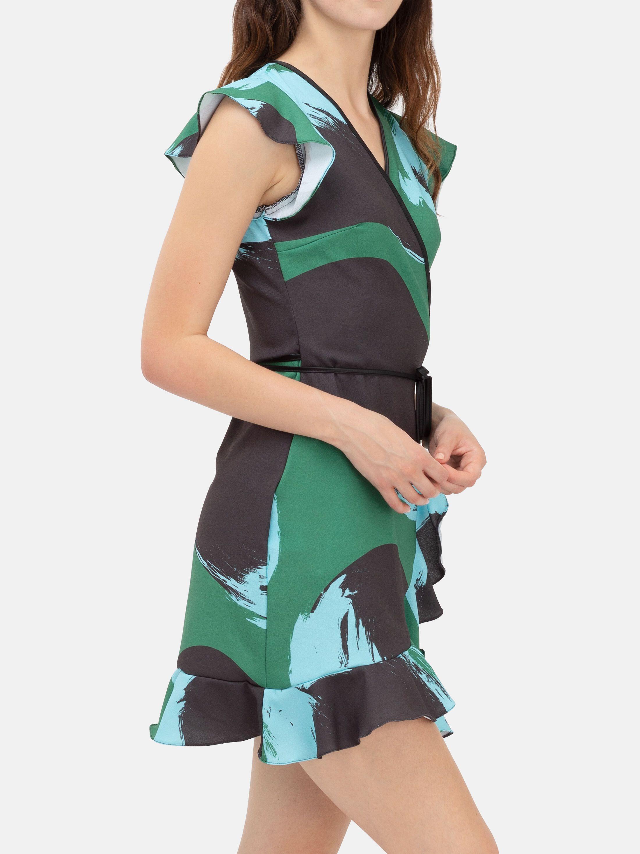 Omlottklänning med volangkjol
