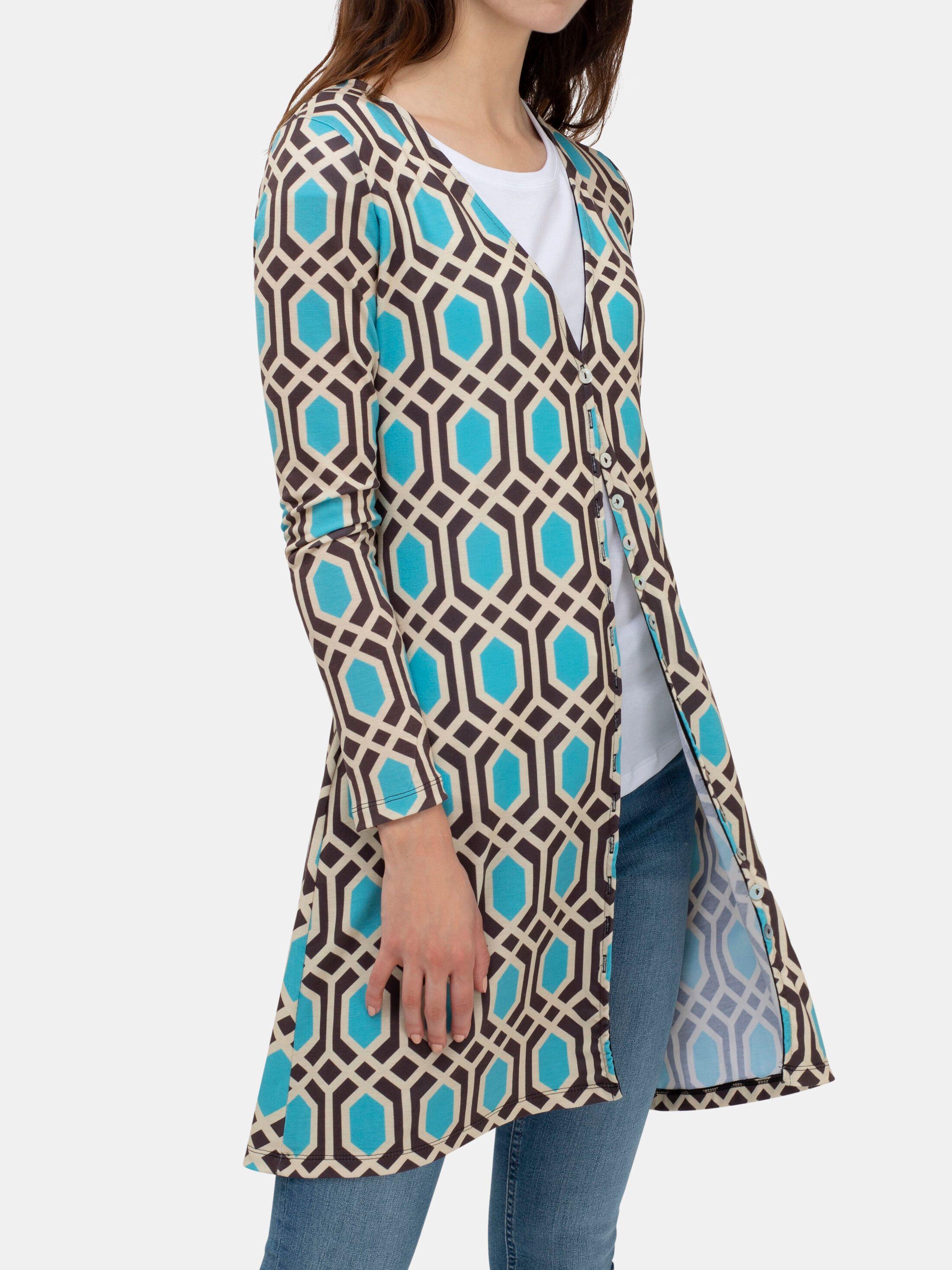 custom women's printed cardigans