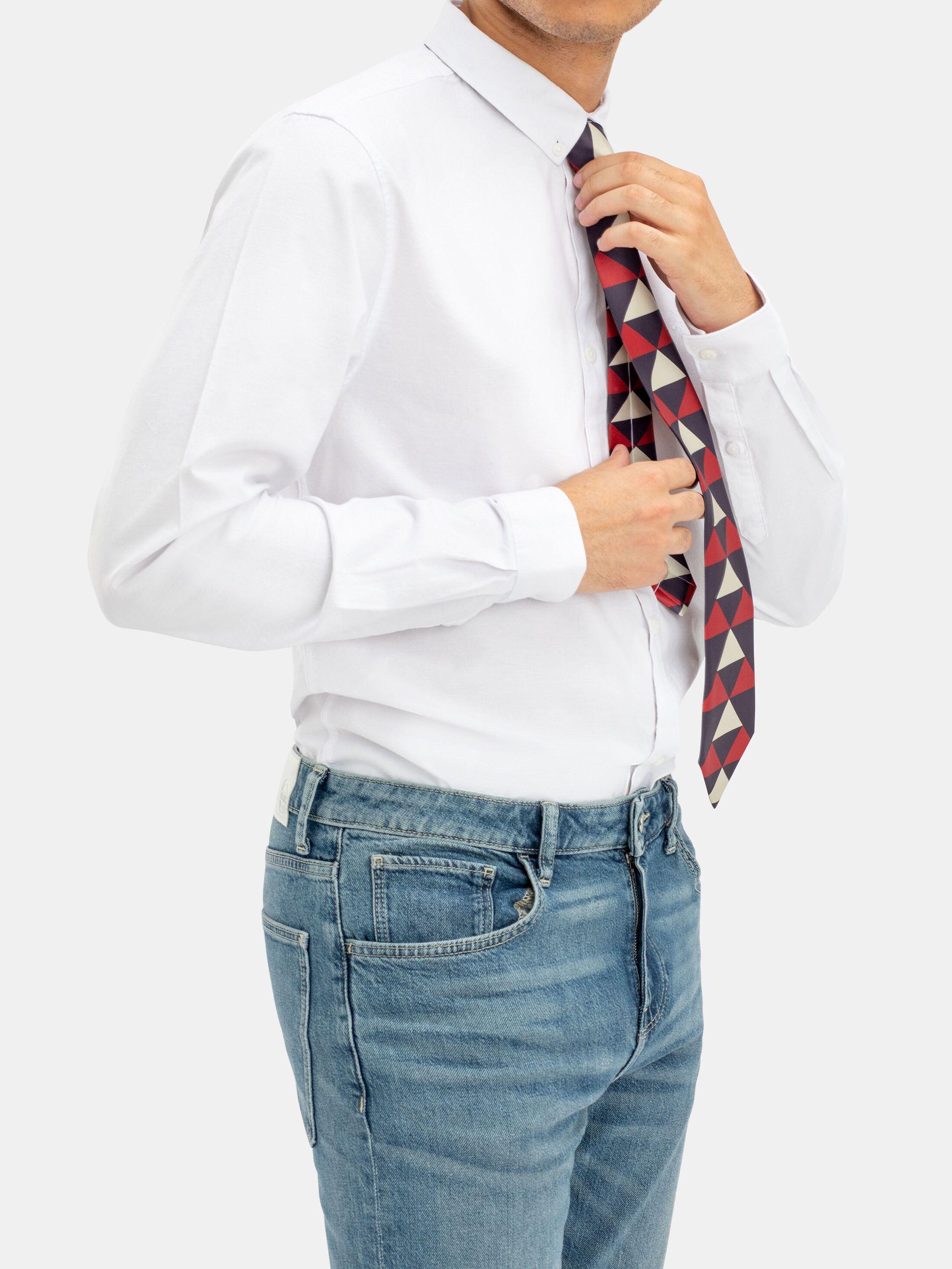 rückseite selbst gestaltete krawatte