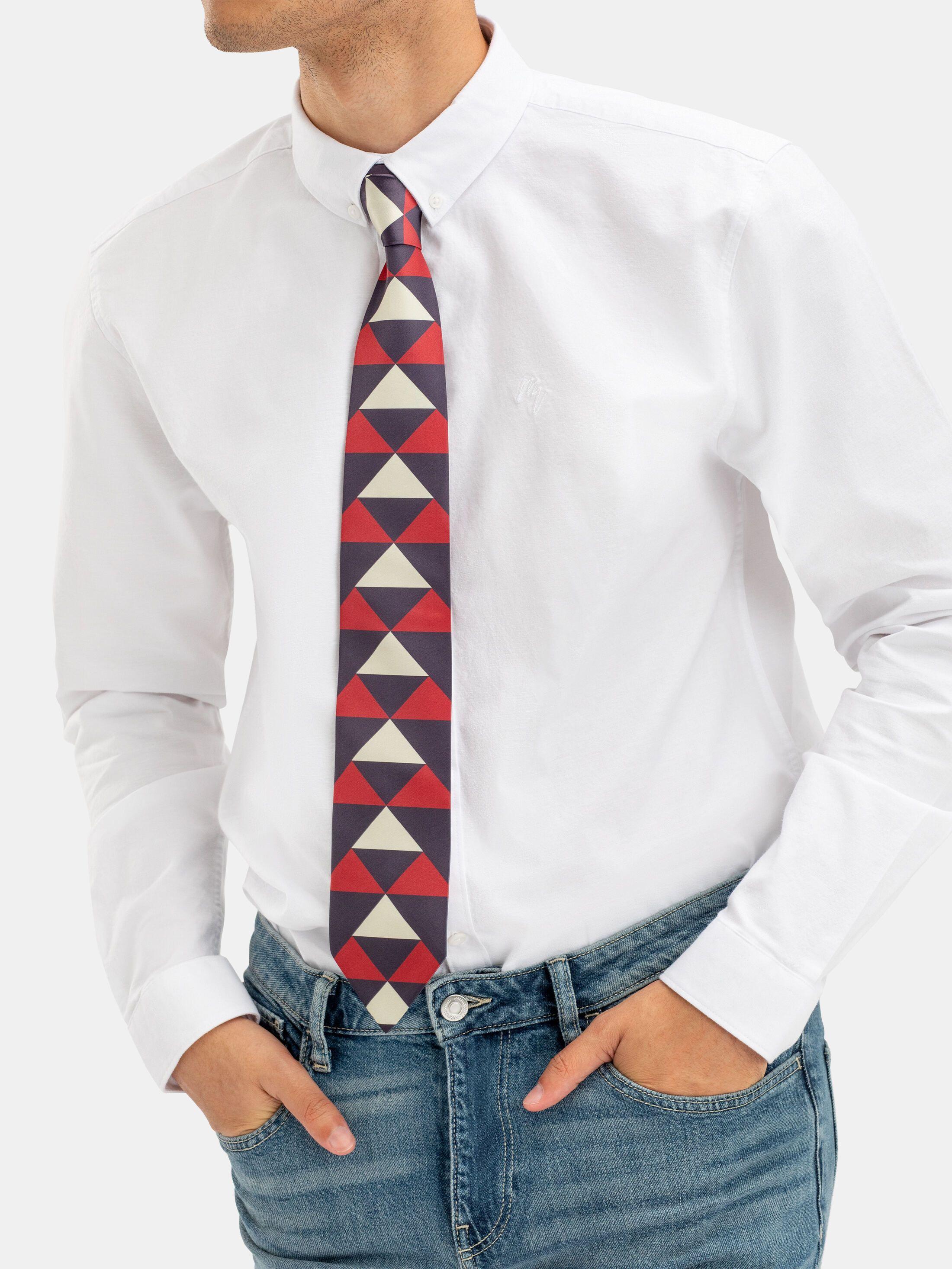 orange patterned ties custom made