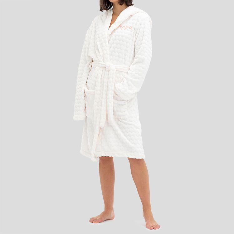 personalised fleece gown