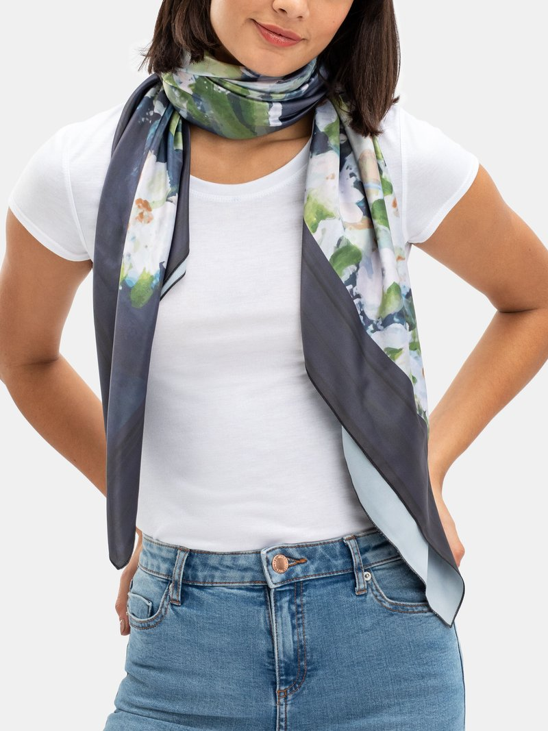 custom silk scarf square