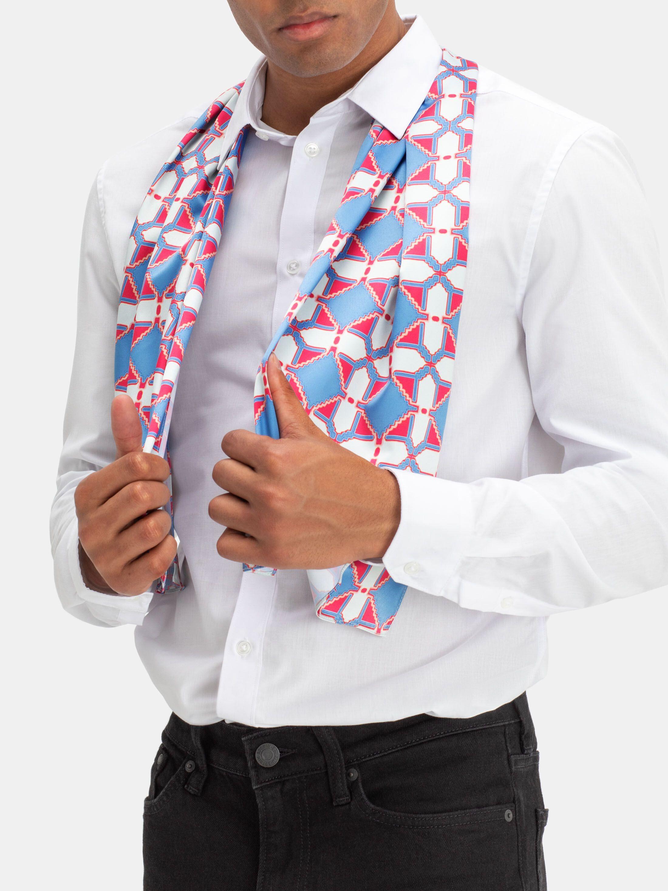 custom printed silk scarf hemming options