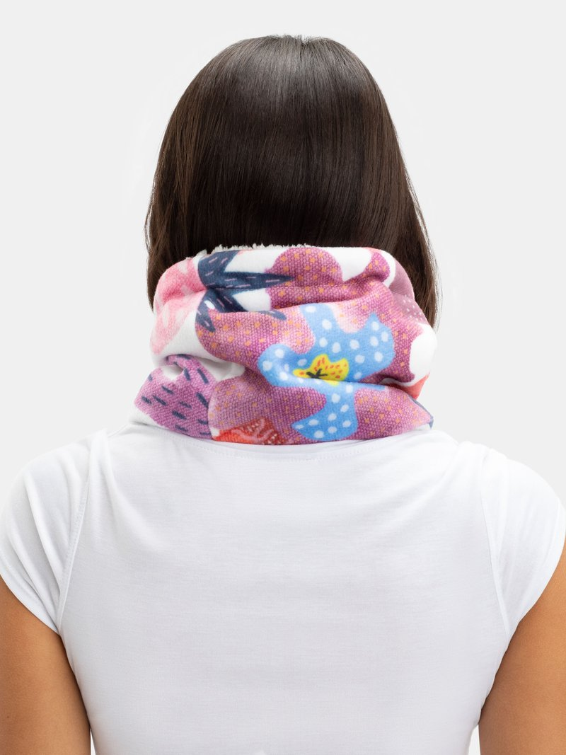 Printed paint design neck warming snood