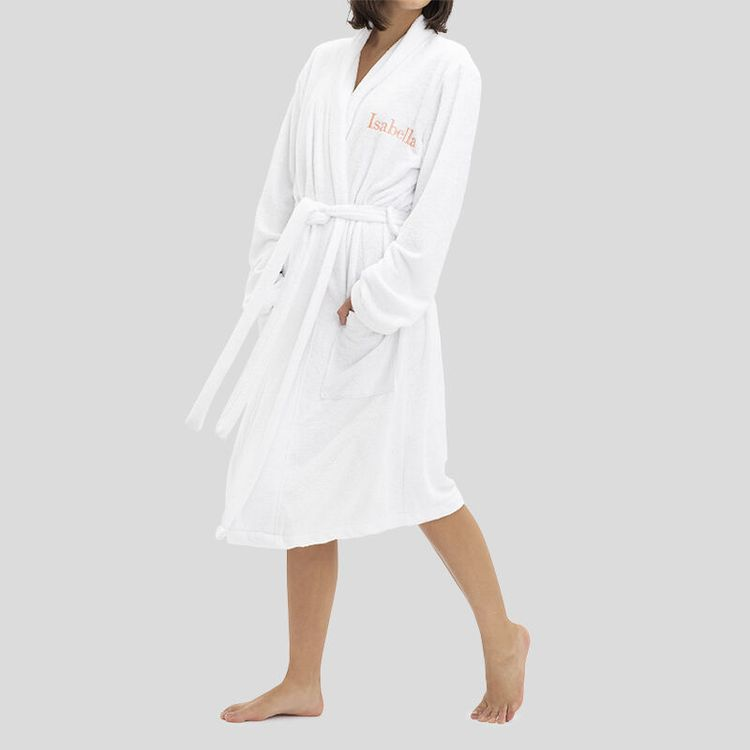 custom name embroidered bathrobes
