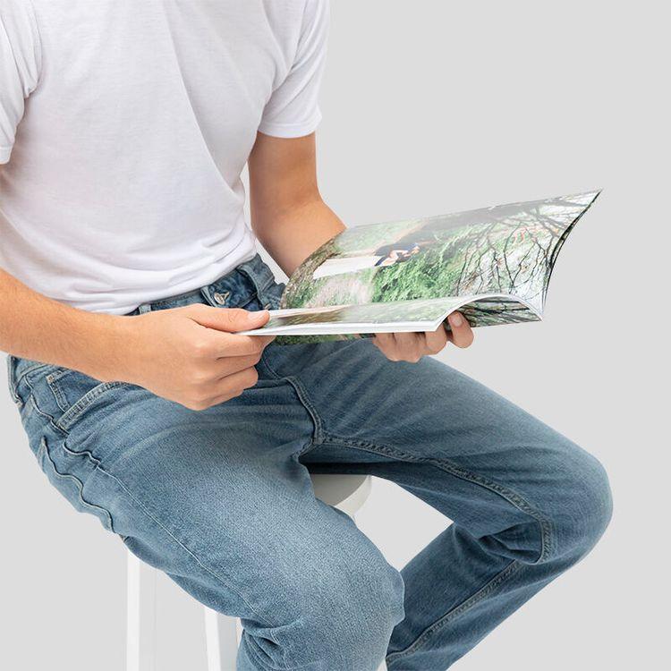 Glansigt papper A4 storlek fotobok