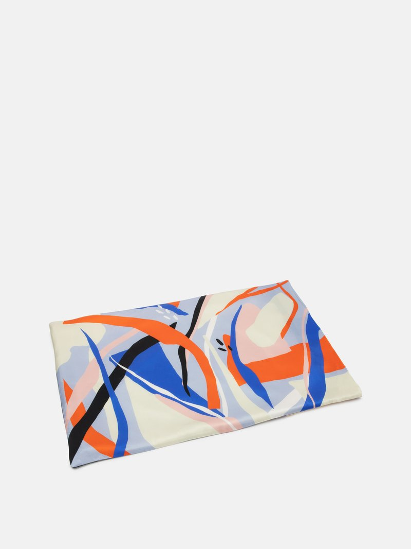 printed silk pillowcase flat