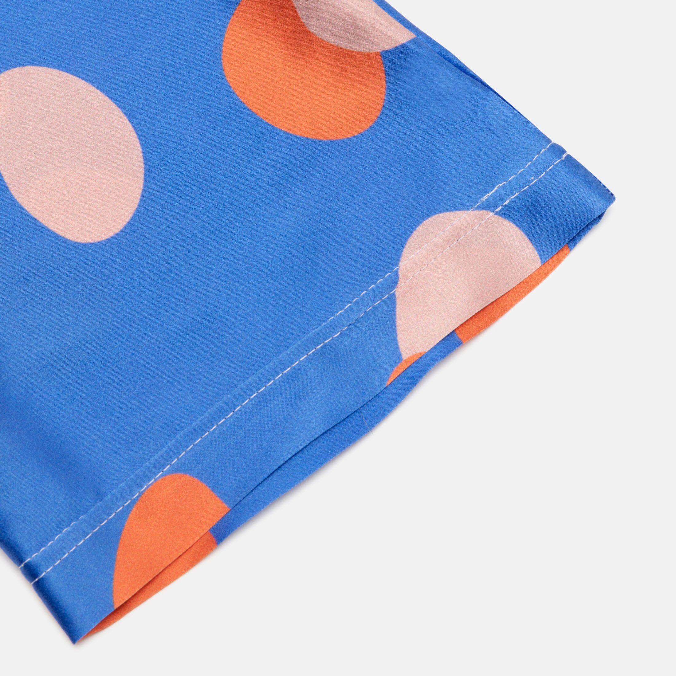 printed silk pajamas leg hem