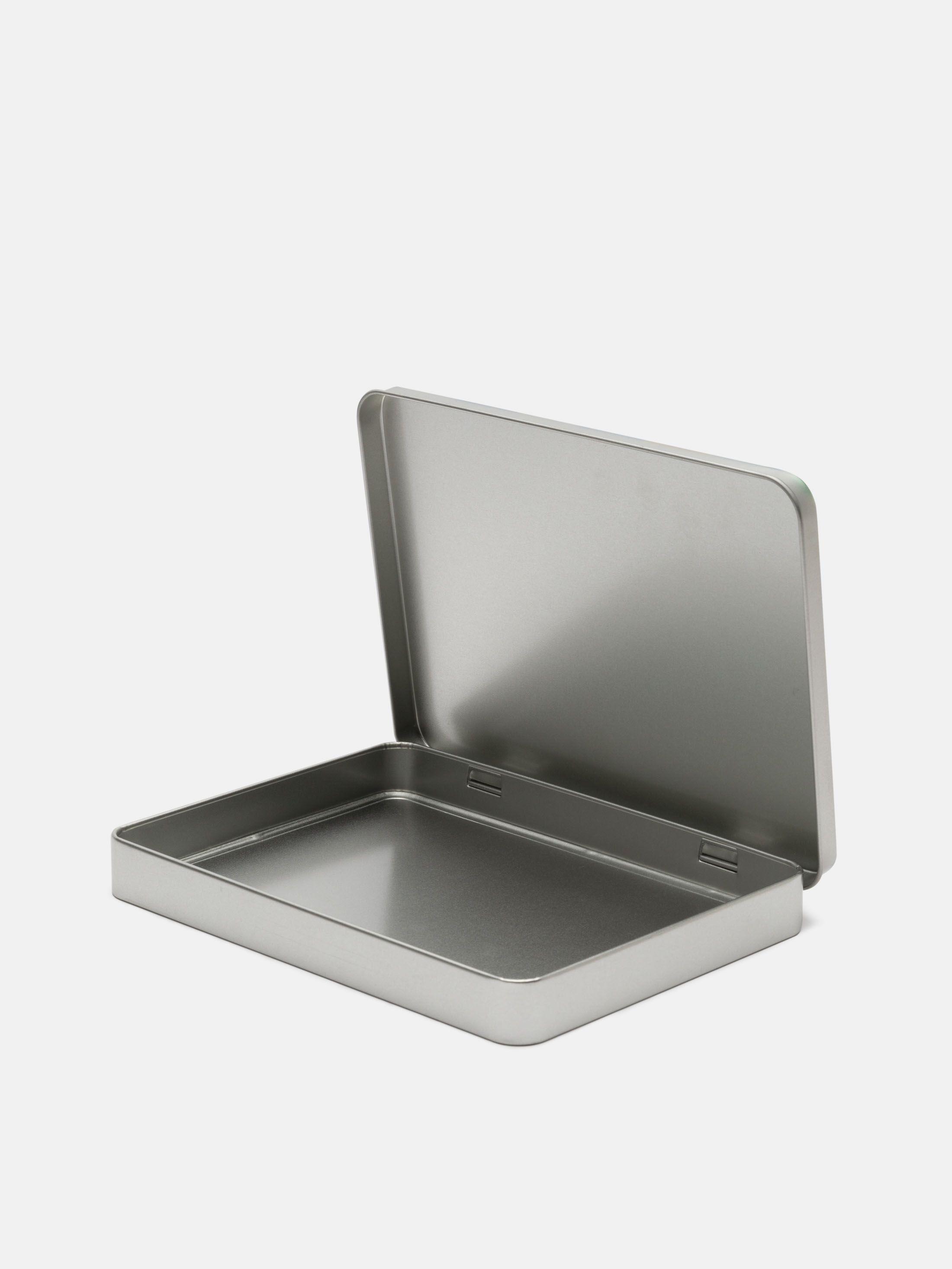 Couvercle à charnière de la boîte en métal plate personnalisée