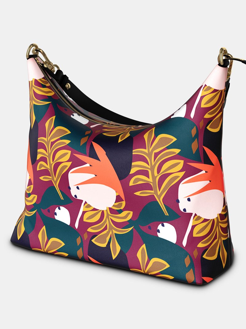 Leder Hobo Bag bedrucken