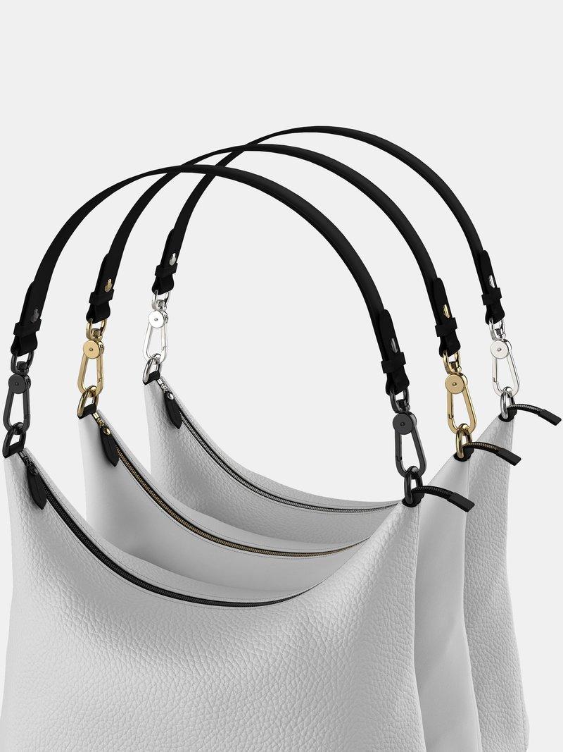 Leder Hobo Bag Metall Optionen
