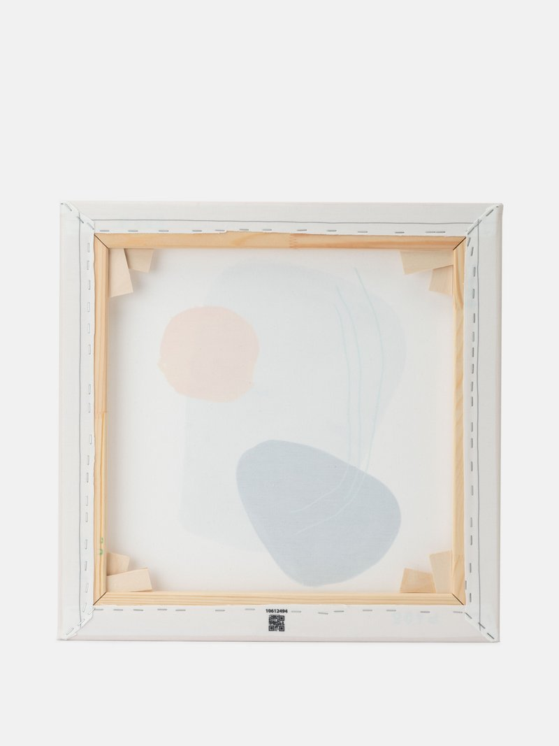 details houten frame canvas wanddecoratie