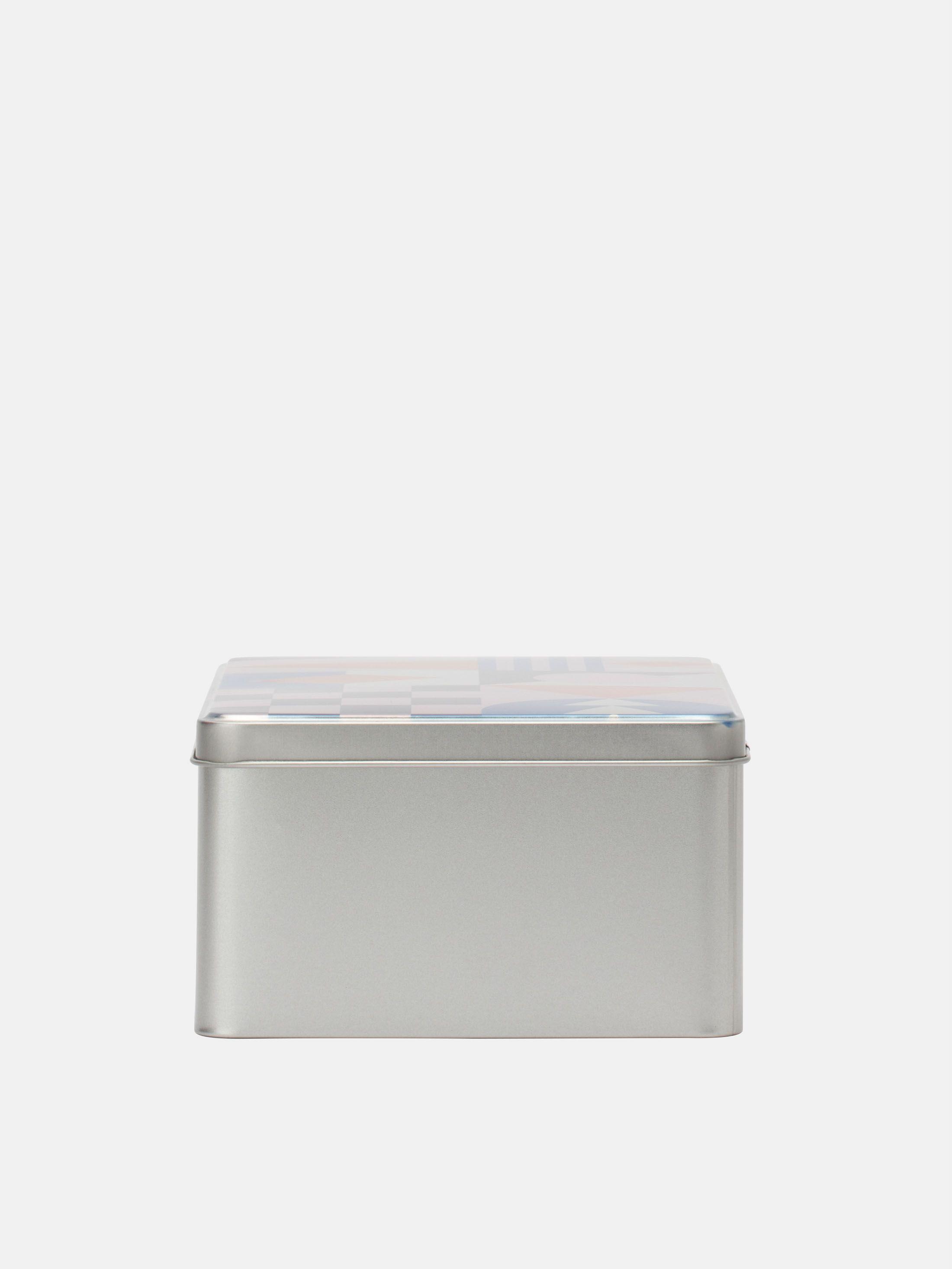 ちょうつがいの蓋付き ビスケット缶
