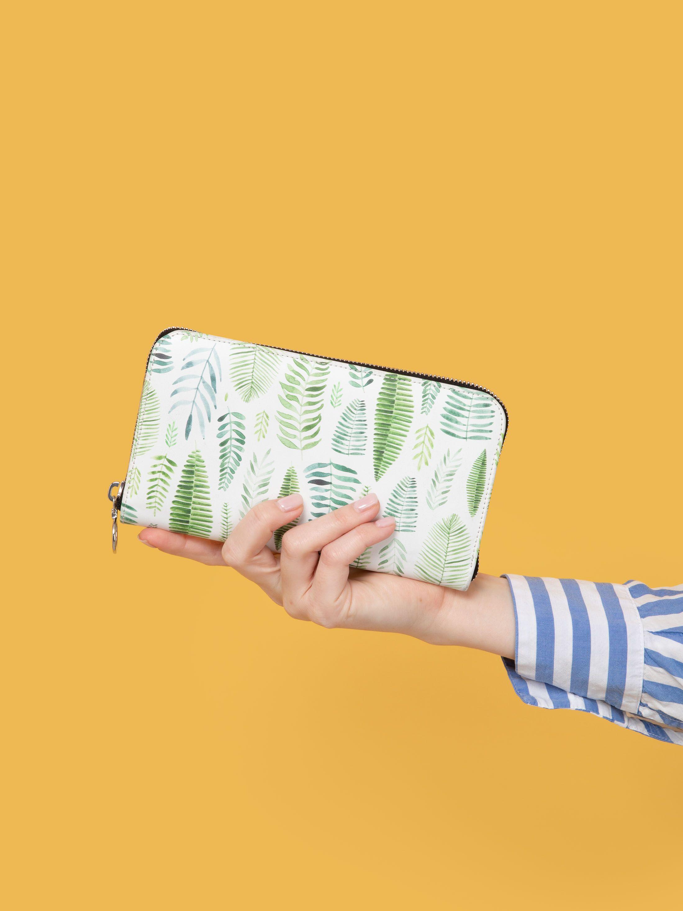 custom leather long wallets