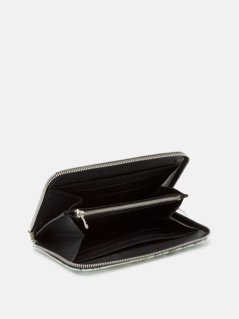 zipper on custom clutch leather