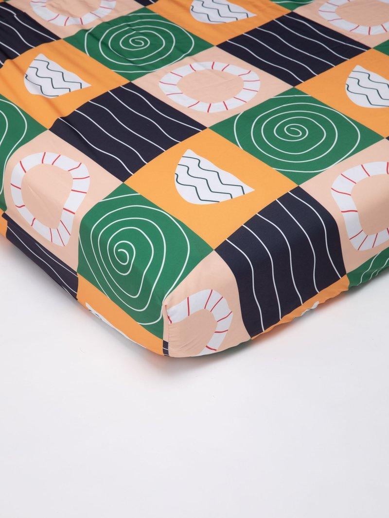 Drap housse imprimé avec élastique dans les coins