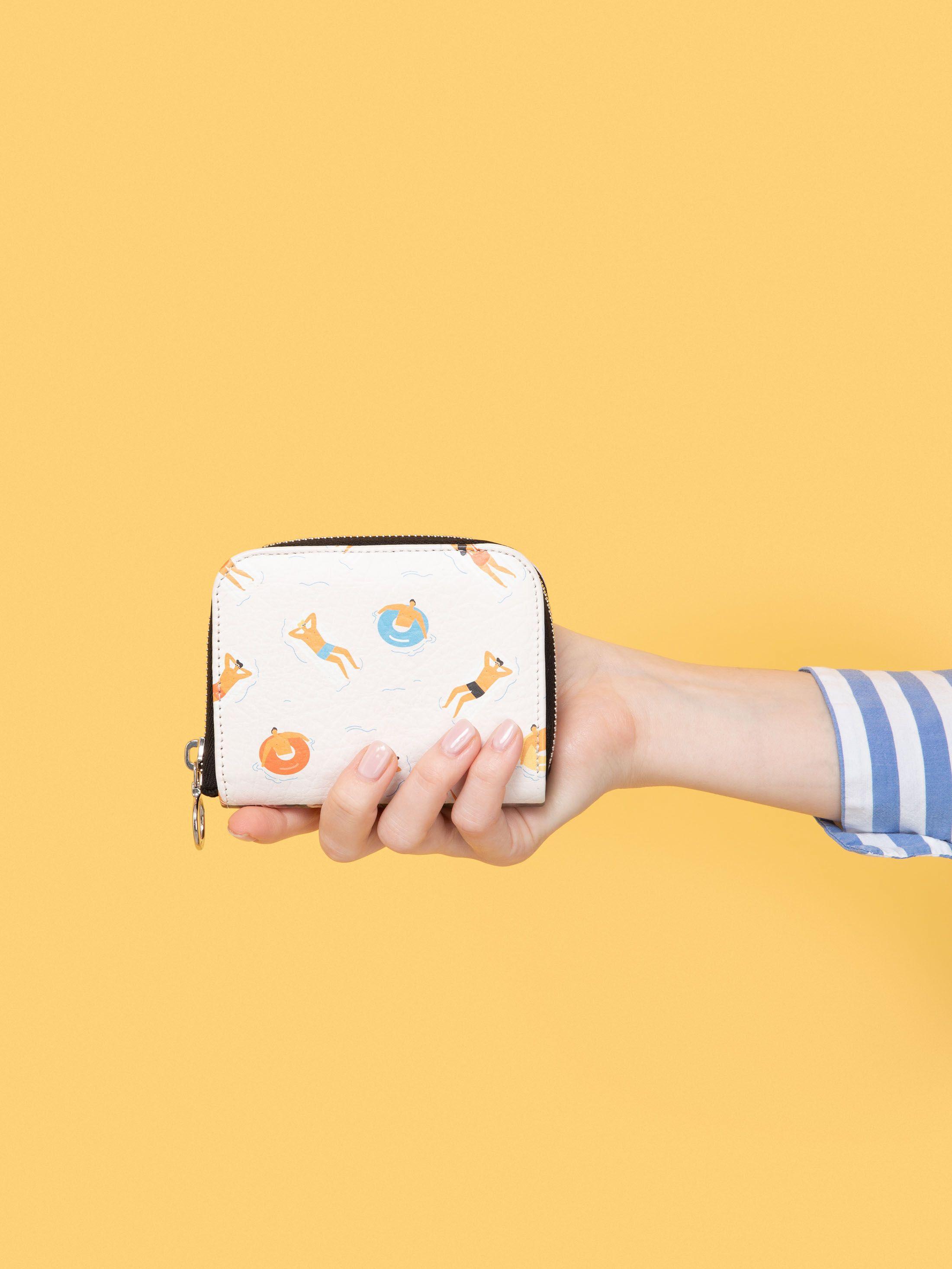 ラウンドファスナーミニ財布 オリジナル作成