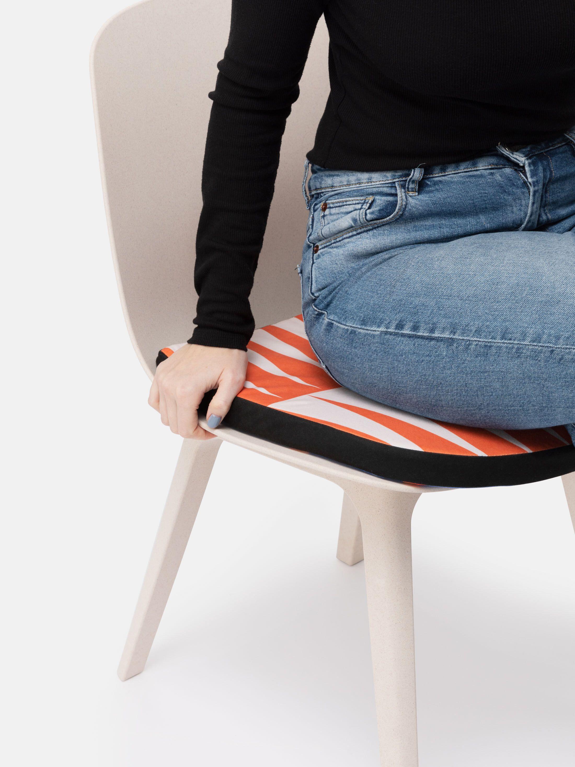 シートクッション ジッパー付きカバー デザインプリント