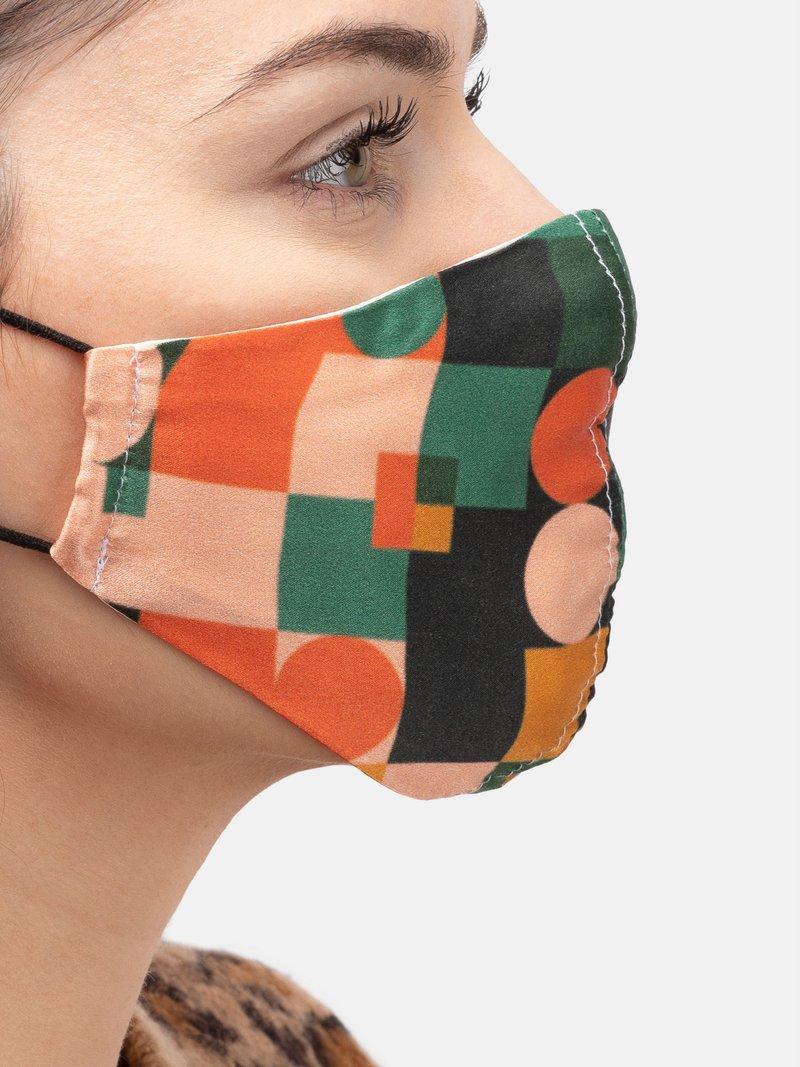 printed silk face mask