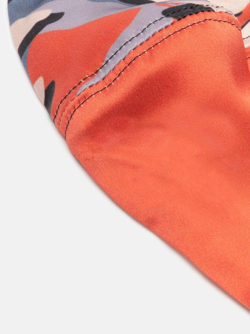 Bedruckte Seidenmaske Detail