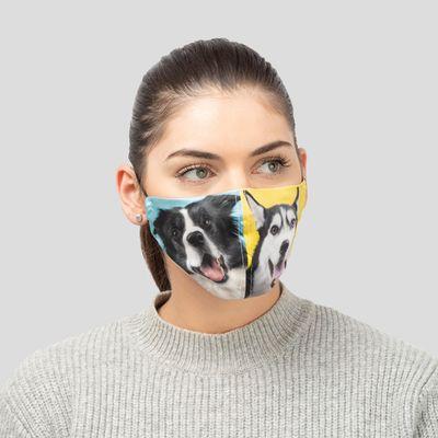 gepersonaliseerd zijden mondkapje