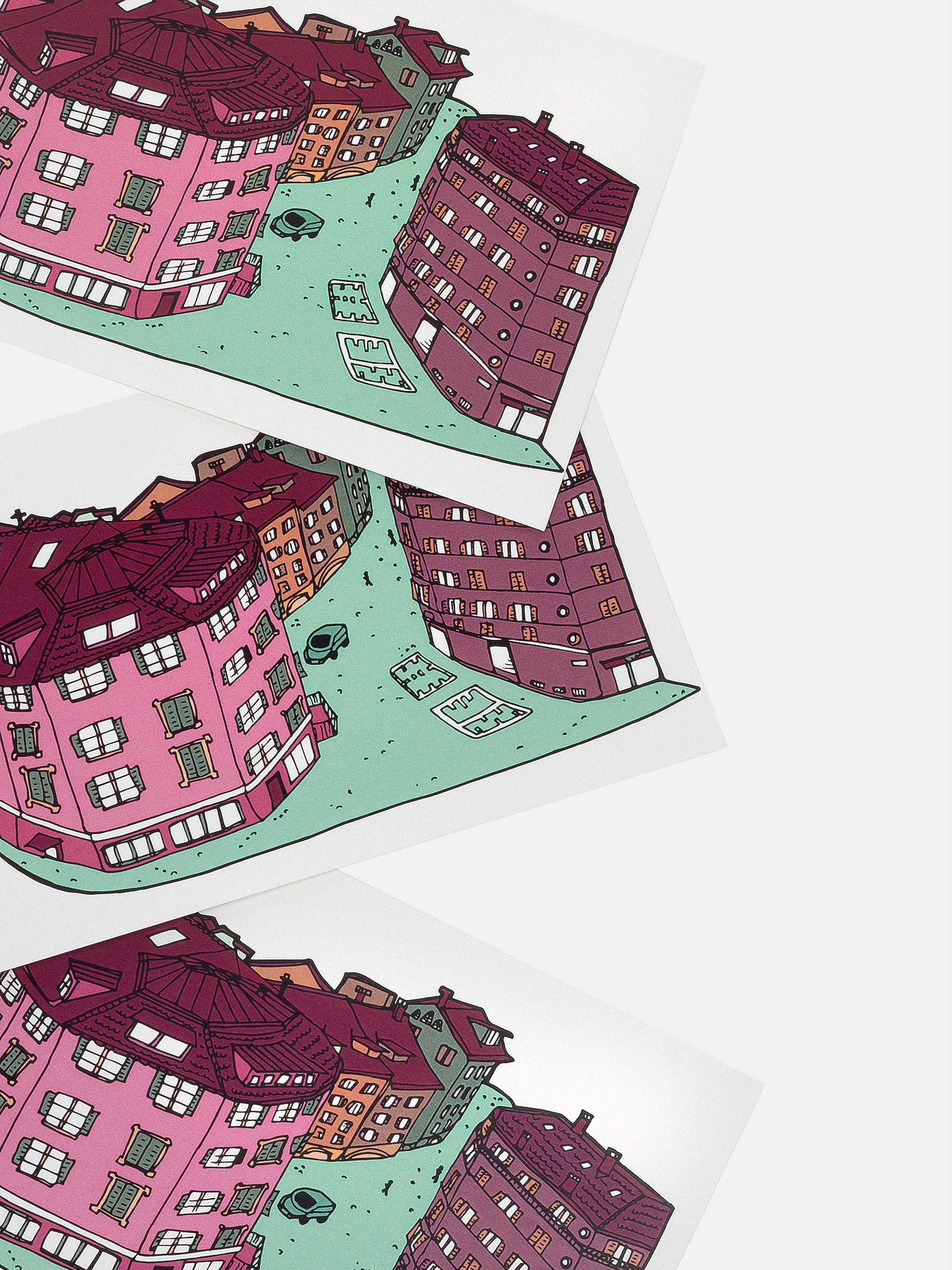 postcards custom printed with bespoke art