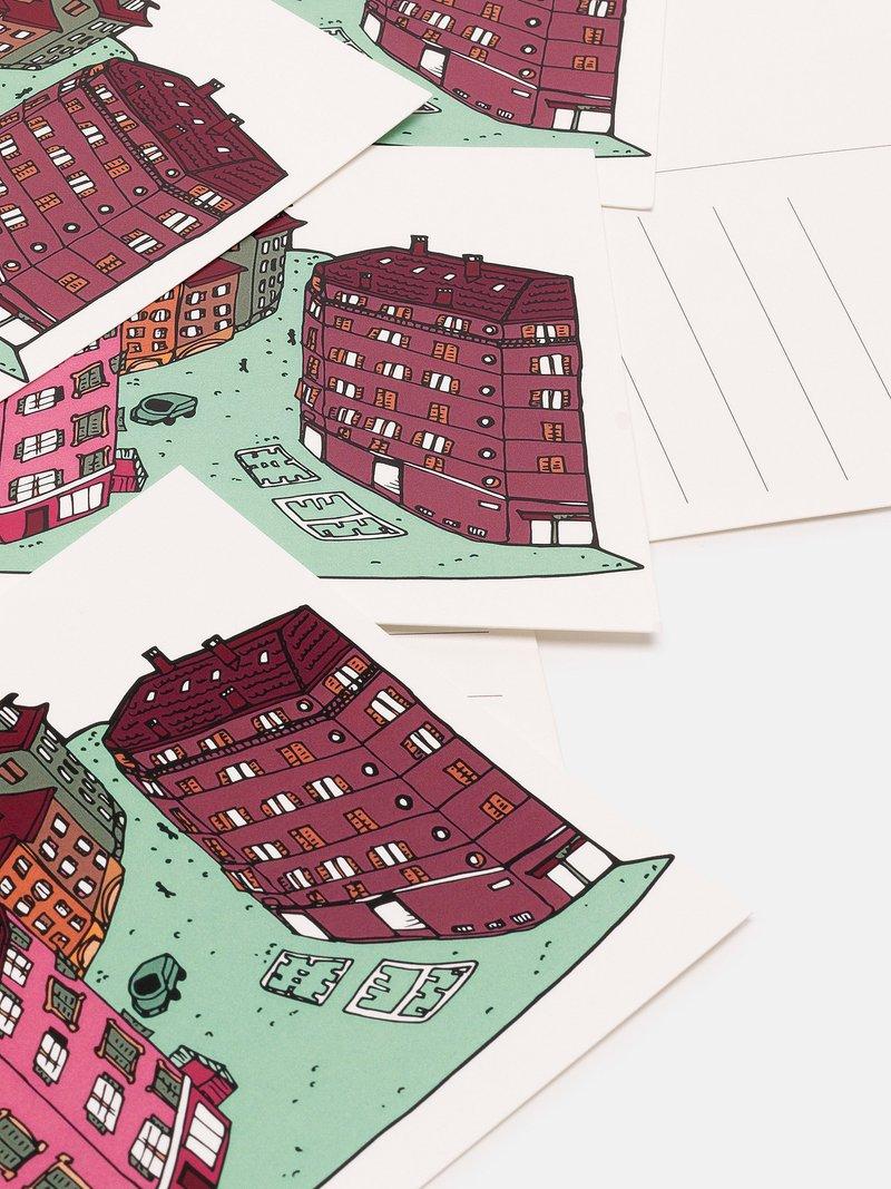 Dos de carte postale avec lignes pour l'adresse et espace pour le timbre