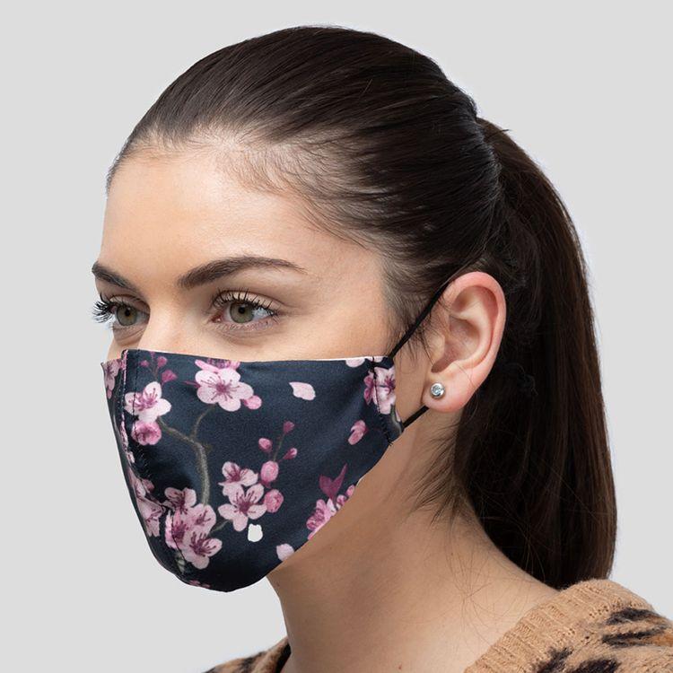 masque personnalisé en soie