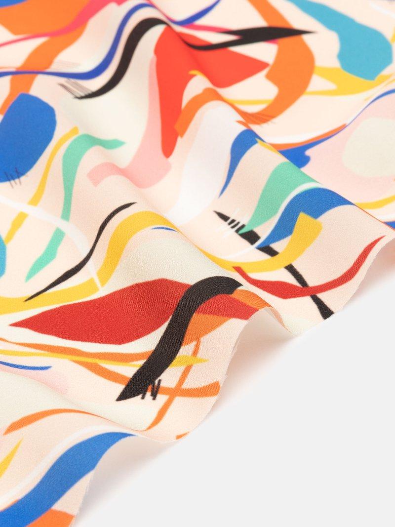 tessuto crepe de chine di seta con stampa personalizzata