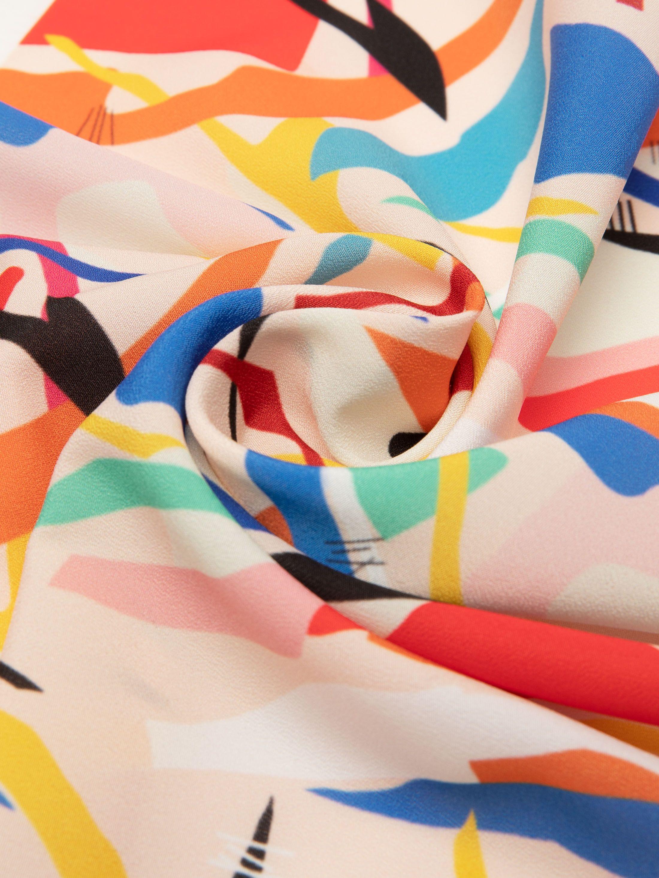 stoffa crepe de chine di seta personalizzata