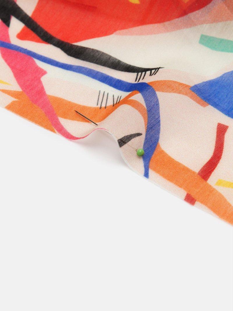 Printed Voile Cotton Silk