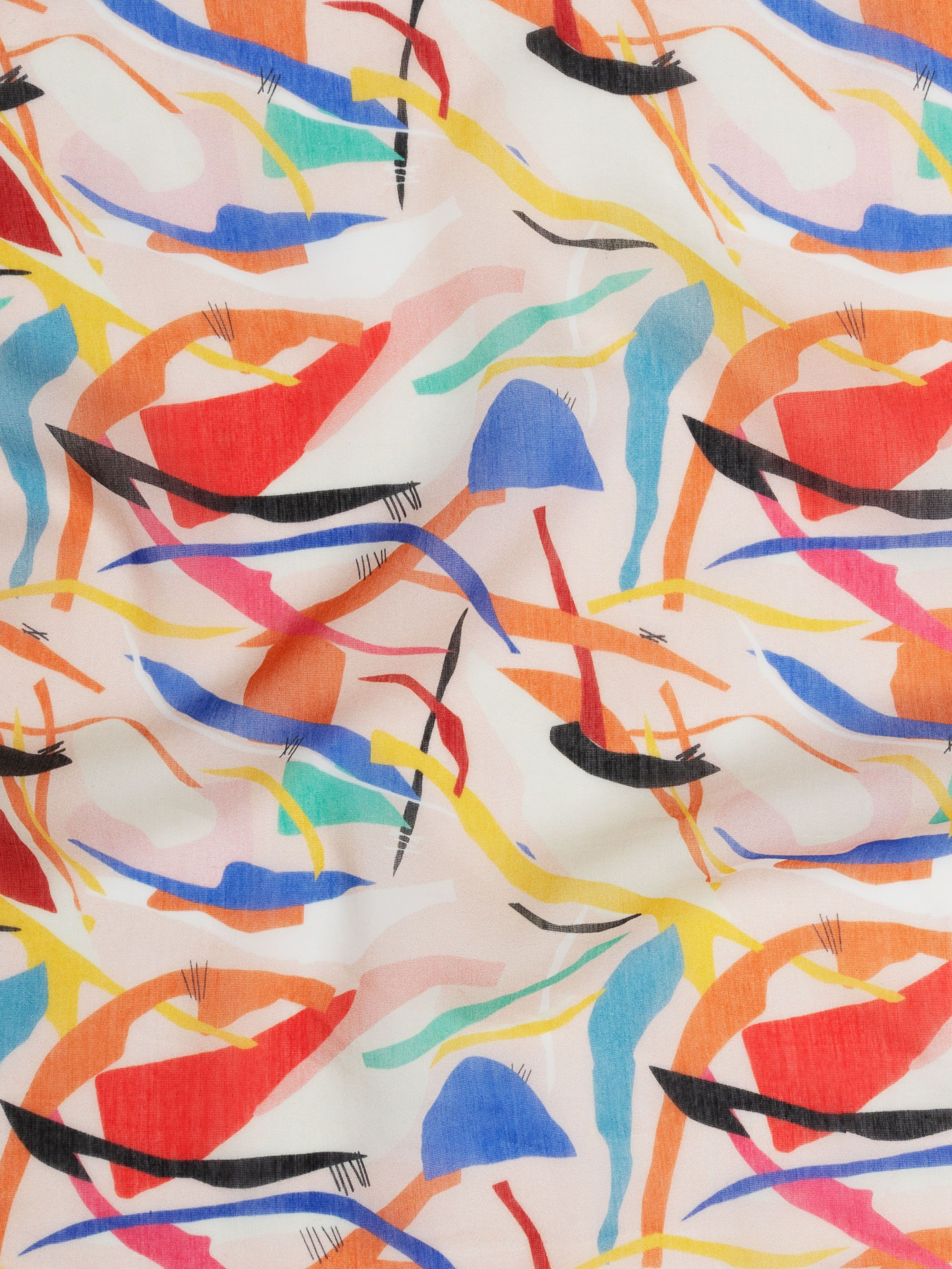 Print on demand Voile Cotton Silk