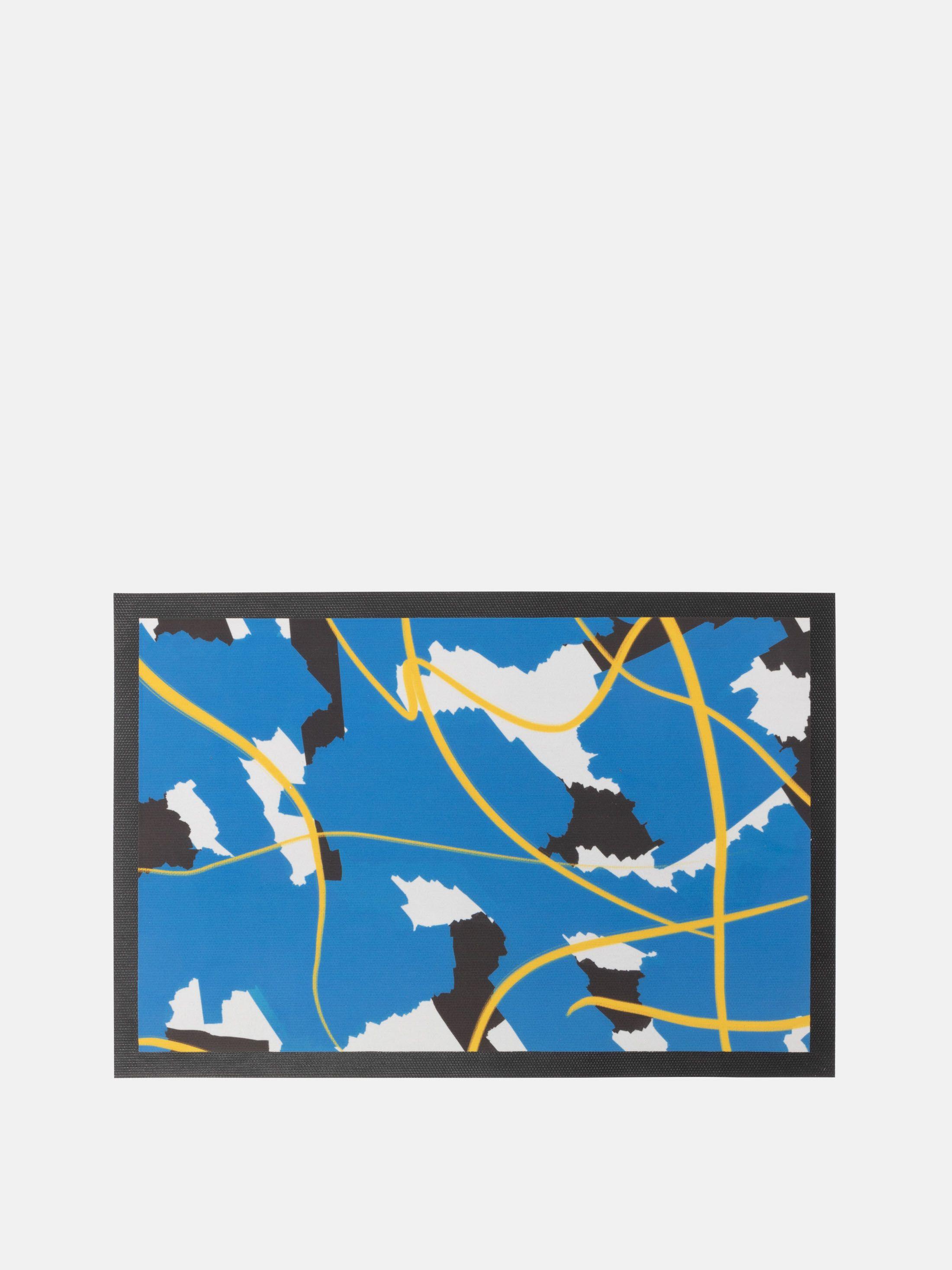 gepersonaliseerde deurmat met abstracte print
