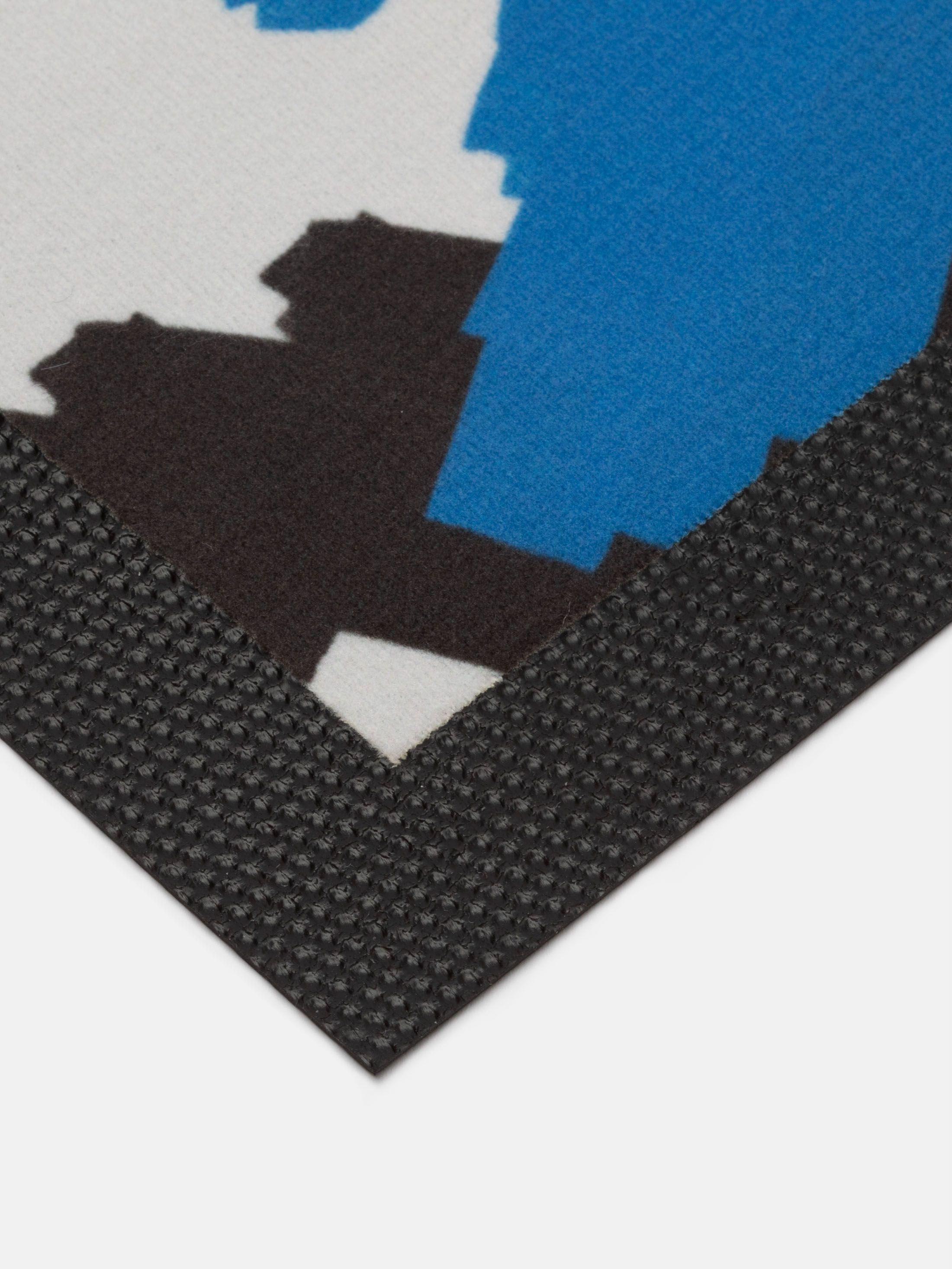 non-slip rubber base of bespoke mats for doors