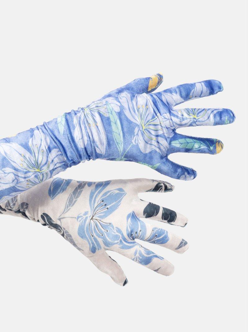 gants longs avec photos