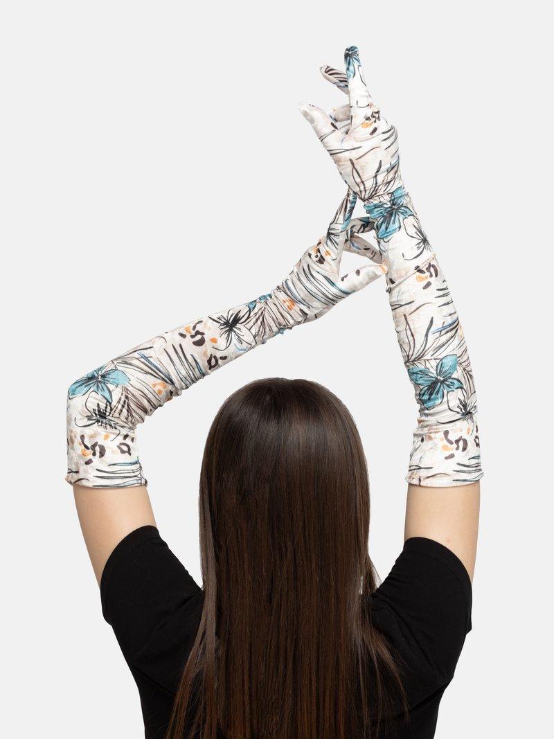 custom long gloves