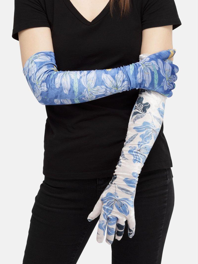 custom crushed velour gloves