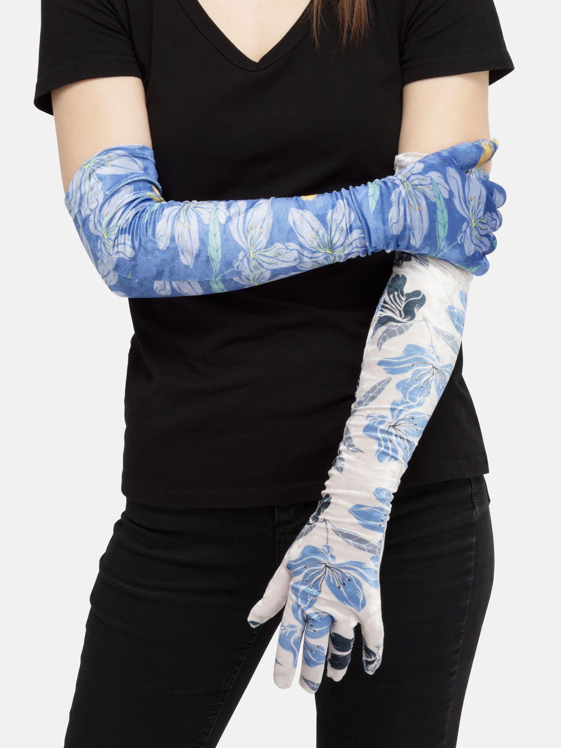 gants longs velours