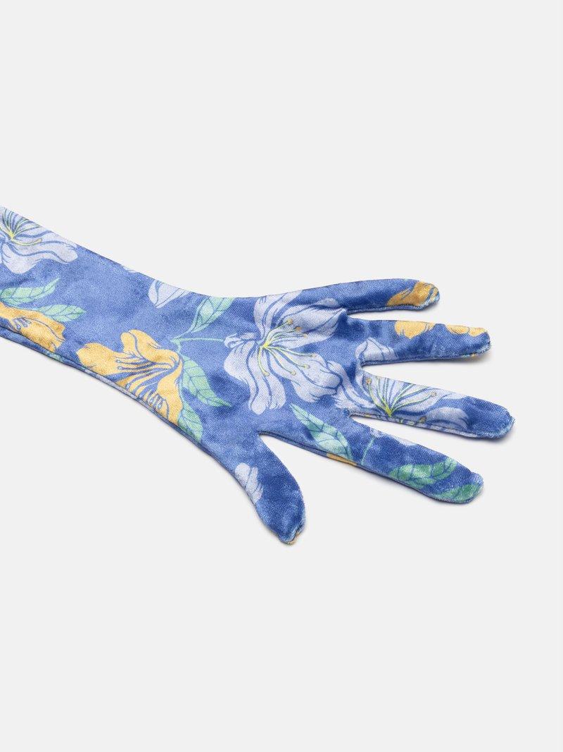 custom velour gloves