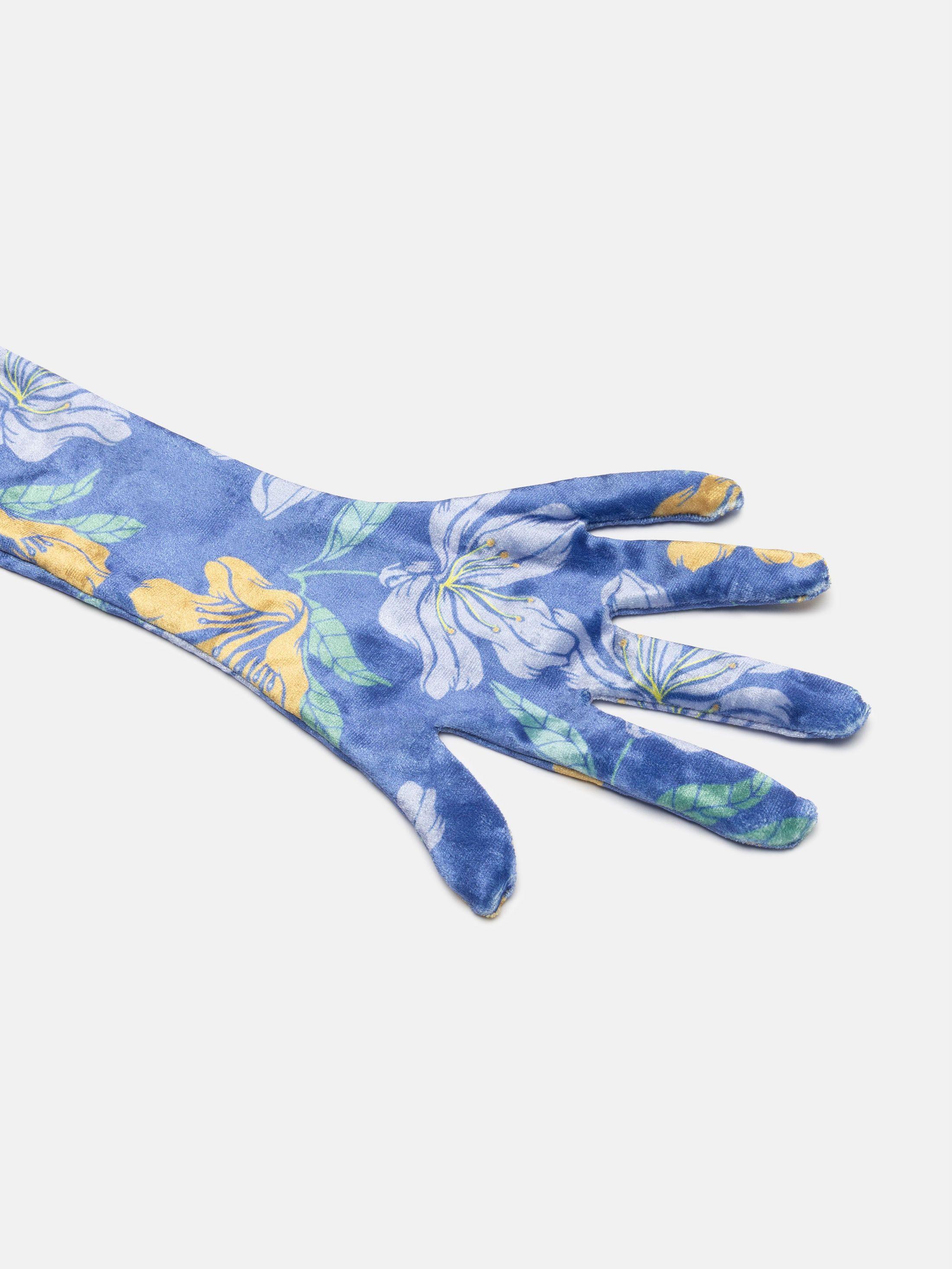lange handschoenen met print