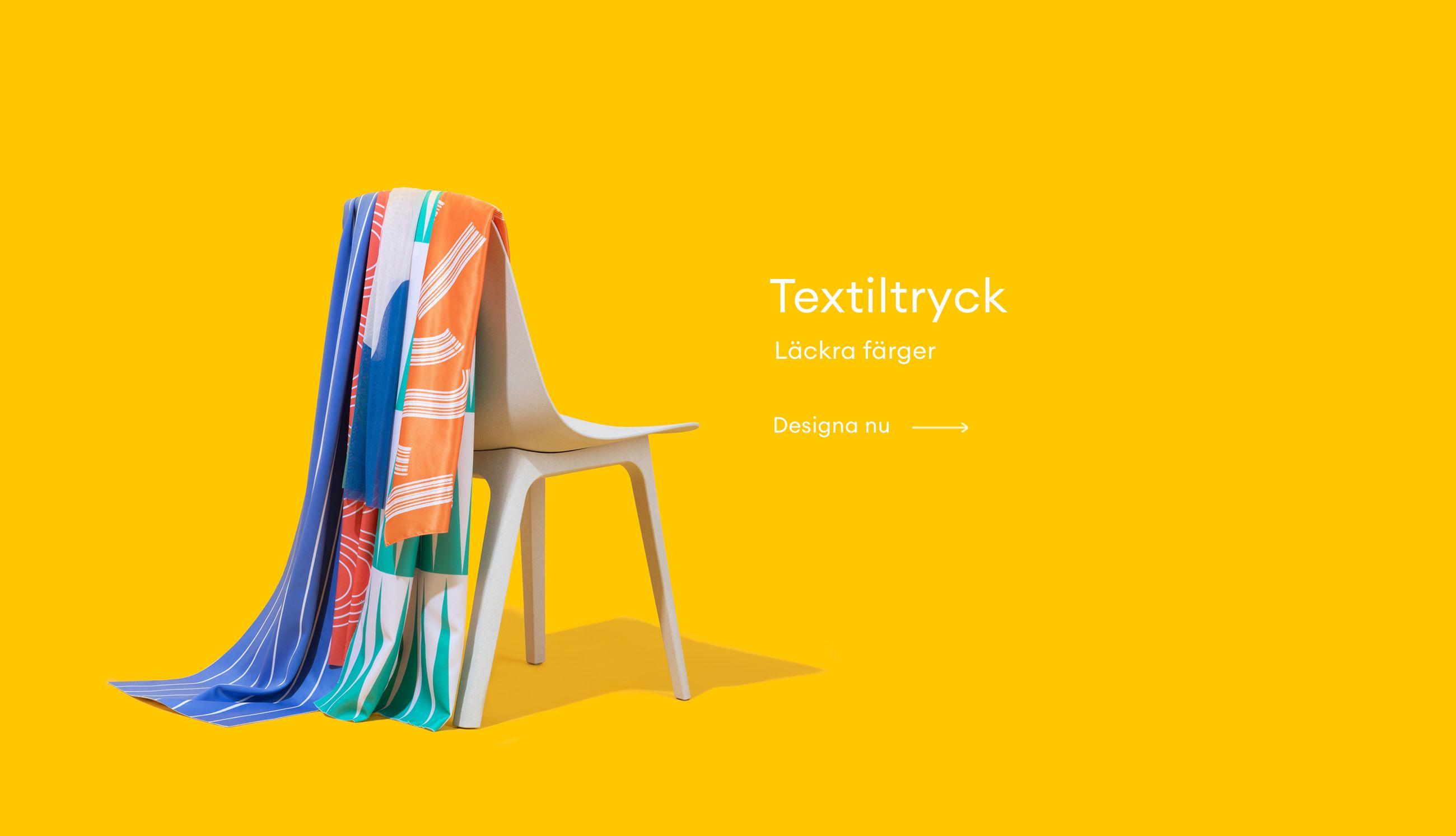 Textiltryck Läckra färger Designa nu