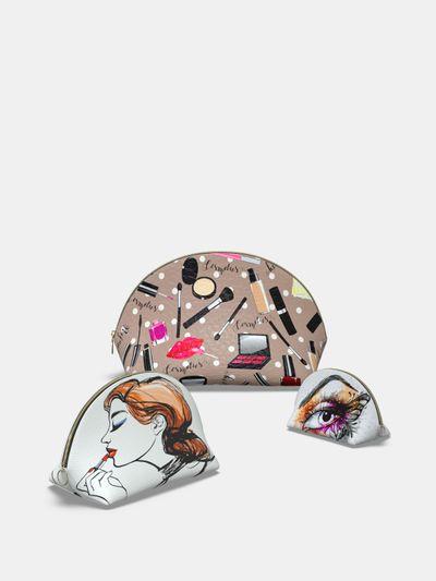 custom shell cosmetics bag