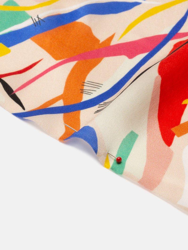 design your own silk satin fabric