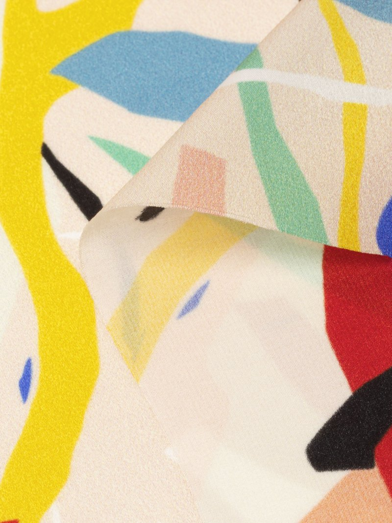custom printed silk satin