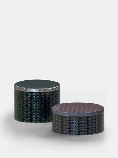 Boîte en métal ronde