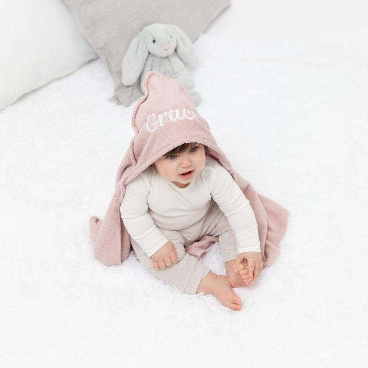 Personlig bebishandduk med luva