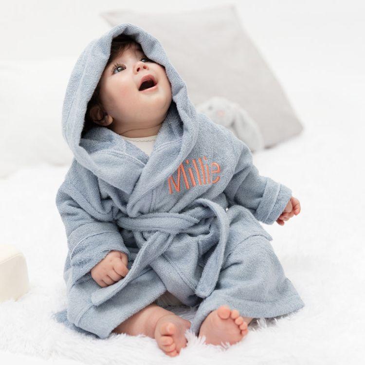 Bestickter Baby-Bademantel